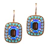 Mariana-Diana-Matte-Rose-Gold-Plated-Swarovski-Crystal-Rectangle-Drop-Earrings