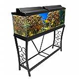 Aquatic Fundamentals 55 gallon Scroll Aquarium Stand, Black