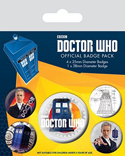 X insignias Paquete y mm The Doctor 15 Who 10 1 Doctor 38 mm de Twelfth de 4 cm 25 z57qwRxrz