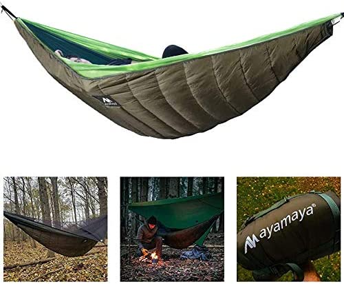ayamaya Ultralight Hammock Underquilt for Camping Backpacking, 3 Season Under Quilt UQ for Single Person Hammock Warm Under Blanket Sleeping Bag Bottom Insulation – Hammock Camping Gear