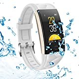 Fitness Tracker, Activity Tracker Heart Rate Monitor, Blood Pressure Sleep Monitor Pedometer, 0.96 inch TFT Colorful OLED Screen, Waterproof Bluetooth Bracelet Compatible with Android & iOS