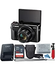 $599 » Canon Powershot G7X Mark II Point & Shoot Digital Camera + Accessory Bundle + Inspire Digital Cloth