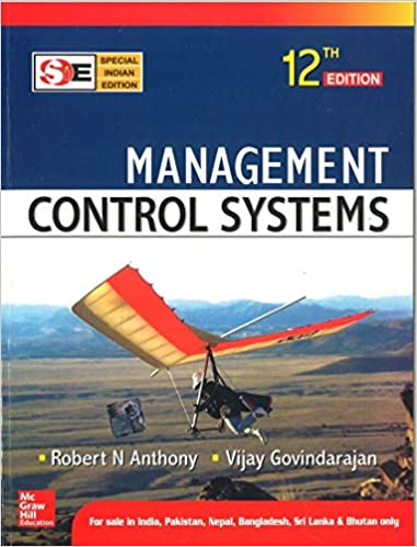 Management Control Systems: Anthony / Govindarajan