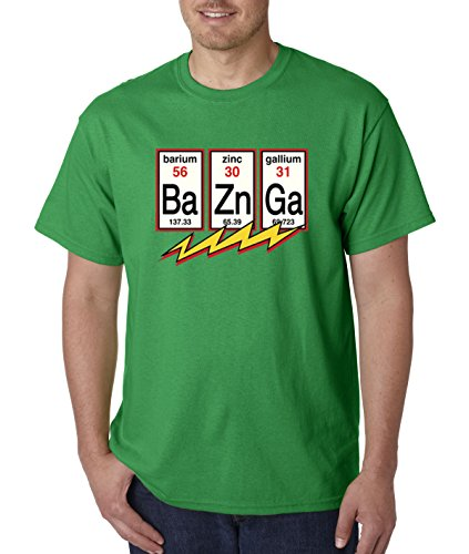 - New Way 685 - Unisex T-Shirt Ba Zn Ga Bazinga Big Bang Theory Flash Physics Chemistry XL Kelly Green