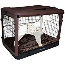 Pet Gear 70-Pound The Other Door Deluxe Steel Crate for Pets, 36-Inch, Chocolate