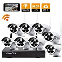 VOYAGEA 8CH 1280960P HD NVR Wireless Home No HDD Surveillance Security Camera System 8 Channel 960P Wifi NVR CCTV Surveillance Systems CamerasA16