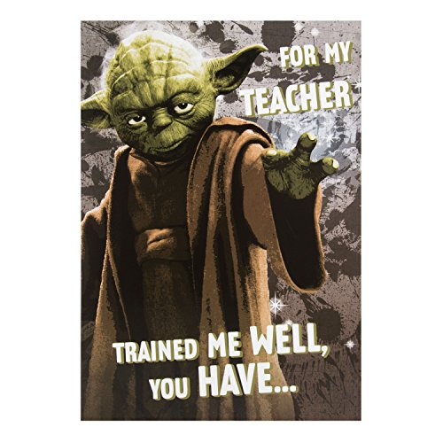 Hallmark Star Wars Thank You Teacher Card