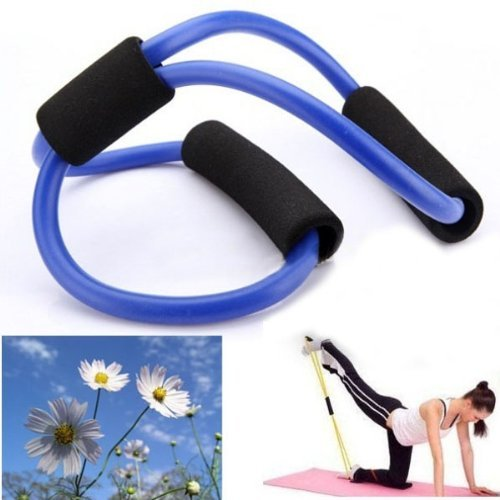 Resistance Bands Tube Fitness Muscle Workout Exercise Yoga Tubes by - Hot Tamil New