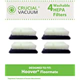 Crucial Vacuum 4-Pack Washable and Reusable HEPA Filter for Hoover Floor Mate