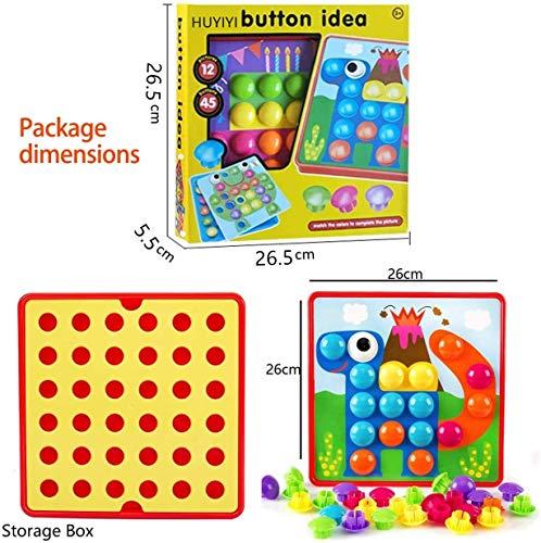 51YmwfFej6L : primero presione el botón de color en el tablero colgante de mosaico, luego su hijo puede crear una imagen de estilo de dibujos animados vívida única en el tablero colgante de acuerdo con su propia creatividad e imaginación. ¡Mejora las habilidades de diseño de tu hijo! : Hecho de materiales ABS amigables con el medio ambiente, el color es brillante, la superficie es redonda y suave y no daña la mano. El diseño del botón redondo proporciona la máxima seguridad para su hijo y juega con confianza. Satisfacer las necesidades de los niños y los padres y asegurar una vida más larga. Ha superado las normas de seguridad de pruebas y la certificación CE. : la placa para colgar es liviana y portátil, lo cual es muy adecuado para niños que esperan en el interior durante mucho tiempo. Es conveniente para los padres y los niños usar el tiempo libre, una bandeja de plástico, que puede organizar mejor el almacenamiento de los juguetes, almacenar los botones de manera conveniente y llevarlos a parques al aire libre, playas o vacaciones. Se recomiendan niños mayores de 2 años.