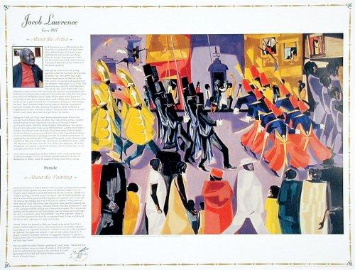 Jacob Lawrence - Parade- Masterworks of Art Poster