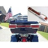 Chrome LED Tail Light Kit Trunk King Tour Pack Wrap Around for Harley Touring