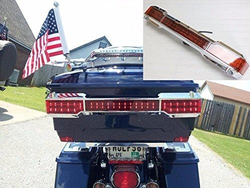 Chrome LED Tail Light Kit Trunk King Tour Pack Wrap Aroun...