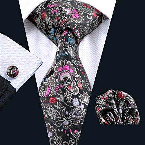 Pocket Tie coloured and Ties Floral Silk Set Neckties Mens Hi Square Handkerchief UWq8Sn4qw