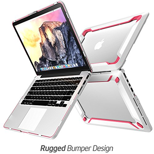 Macbook-Pro-13-Case-NexCase-Heavy-Duty-Slim-Rubberized-Snap-on-Dual-Layer-Hard-Case-Cover-with-TPU-Bumper-Cover-for-Apple-Macbook-Pro-13-inch-13-Pink
