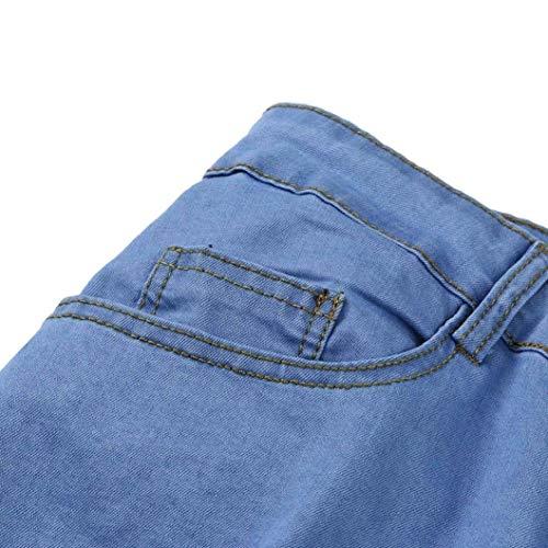 Sommerhose Classiche Fit Blua2 Con E Moda Uomo Ragazzi Svago Uomini Elastica Jeans Rt Dei Motociclista Slim Hren Otturatore Pantaloni Di Denim Del q8H5w4