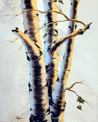 Aspens III Tree Nature Wall Decor Art Print Posters