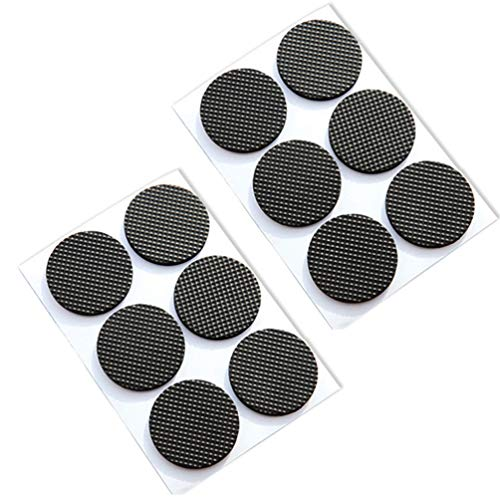 Round Square Shape Self Adhesive, Non-Slip Furniture Pads, Sofa Table Chair Sticky Floor Protector - Round by Sforza (Image #6)