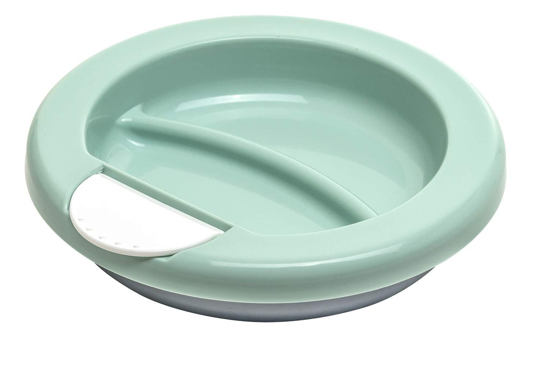 Ab 6 Monaten Rotho Babydesign Warmhalteteller Modern Feeding Swedish Green//Wei/ß//Silver 20,5 x 20,5 x 4,6 cm