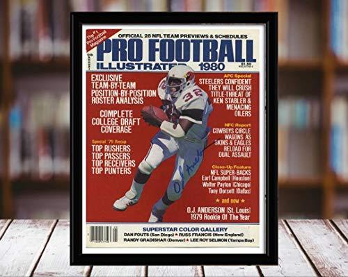 - Ottis Anderson Sports Illustrated Autograph Replica Print - Pro Football Magazine - 1980 - 5x7 Desktop Framed Print