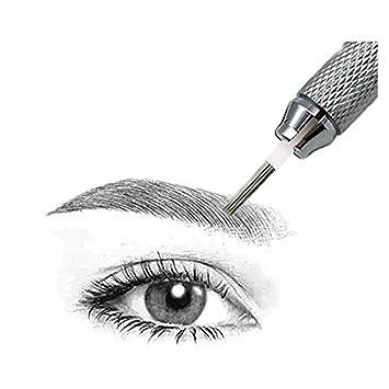Pinkiou 5R Microblading Needles Hojas de microblading de acero ...