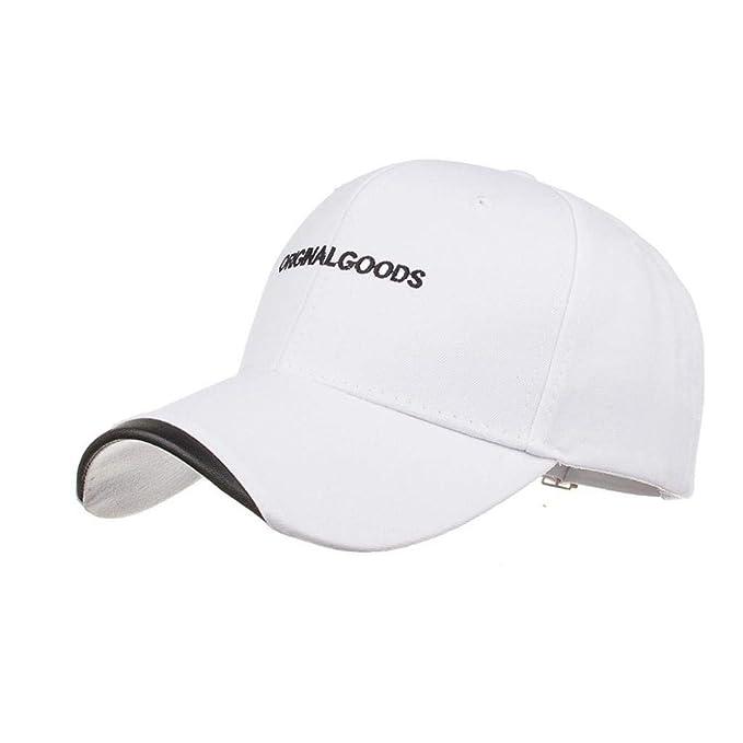 Elodiey Gorra Ufige para Hombre Gorra Letras Femeninas Masculinas Y Tipo Carta Años 20 DE Béisbol Snapback Hat Hip Hop Ajustable (Color : Blanco, ...