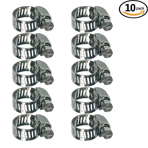 Adjustable Stainless Steel Worm Gear Hose Clamps (6-12mm) - Small Worm Gear