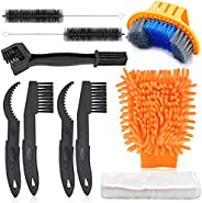 Oumers Bike Cleaning Tools Set (10 Pack), Bicycle Clean Brush Kit Make Mountain, Road, City, Hybrid, BMX and F