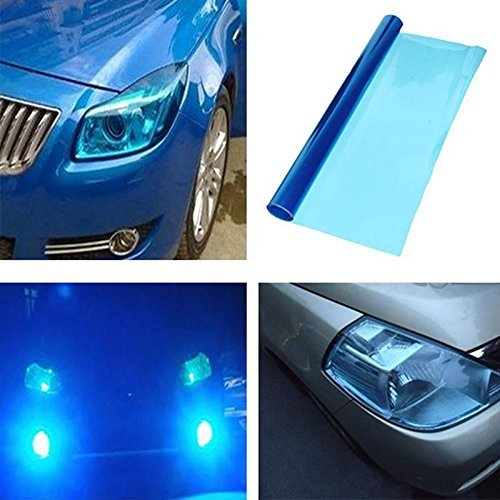 DIYAH 12 X 48 Inches Self Adhesive Headlight, Tail Lights, Fog Lights Tint Vinyl Film (Dark - Blue Tint Light