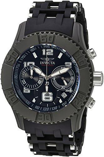 Invicta Men s TI-22 Titanium Quartz Watch with Polyurethane Strap, Black, 14 Model 22463