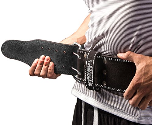 Iron Bull Strength Powerlifting Belt - 10mm Double Prong - 4-inch Wide - Heavy Duty for Extreme Weight Lifting Belt (All Black, Small) by Iron Bull Strength (Image #3)