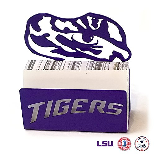 (Gameday Ironworks LSU Tigers Steel Business Card Holder)