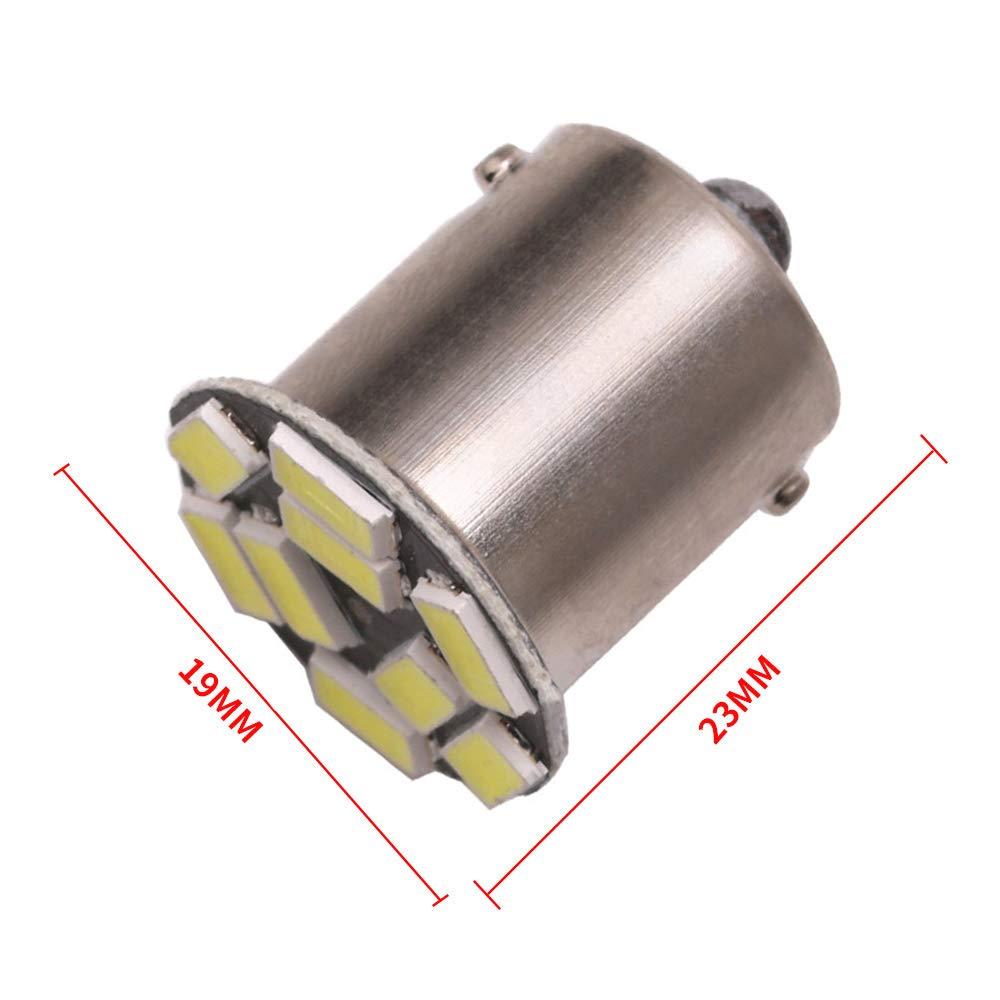 TABEN blanco 8000/K 1156/7506/1003/1141/LED coche luces 9SMD 5730/LED bombillas Interior RV Camper Luz de marcha atr/ás copia de seguridad luz de marcador lateral aparcamiento bombillas 300lm 2-Pack