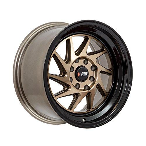 15x8 F1R F07 Bronze w/ Black Lip Rim Offset(25) Lug(4x100/4x114.3) Bore(67.1) 1 Wheel -- F07158BZBK25 by F1R Wheels (Image #2)
