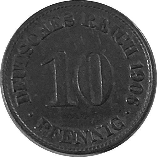 Münzen 10 Pfennig Deutsches Kaiserreich 1906 D Jäger 13 Schön