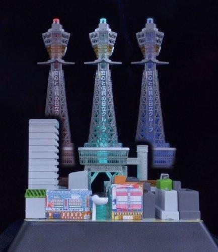 1/800 Tower series Tsutenkaku with LED light-painted plastic model