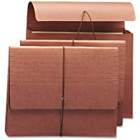 """Smead Expanding File Wallet with Flap and Cord Closure, 3-1/2"""" Expansion, Fully Lined Tear Resistant Gusset, Letter Size, Redrope, 10 per Box (71105)"""