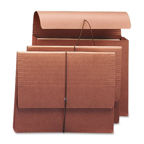"Smead Wallet, 3-1/2"" Expansion, Flap and Cord Closure, Letter Size, Redrope, 10 per Box (71105)"