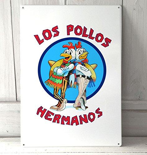 Breaking bad Los Pollos Hermanos formato A4 stile art Targa di metallo da parete