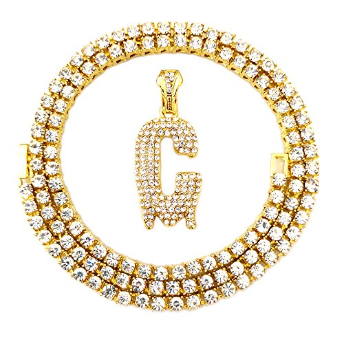 HH Bling Empire Iced Out Hip Hop Gold Faux Diamond Bubble