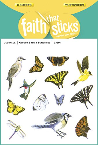 Bird Gardens Butterfly (Garden Birds and Butterflies (Faith That Sticks Stickers))