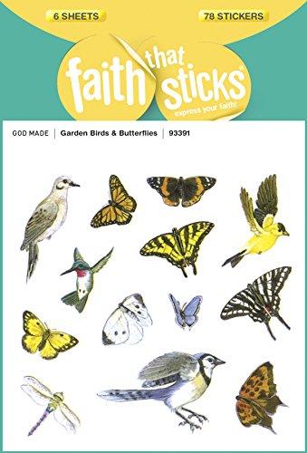 Gardens Bird Butterfly (Garden Birds and Butterflies (Faith That Sticks Stickers))