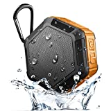 Waterproof Pool Floating Bluetooth Speaker, Chof IPX7 Wireless Swimming Shower Speaker with Memory Card Playing, FM Radio, Clearly Sound for Pool, Beach, Boat, Surfing, Outdoor Hiking (Orange)