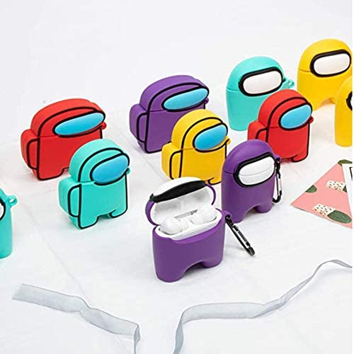 1PICE Among US AirPods Case three-D Soft Silicone Protection Case Cover for Airpods 2 ILAHUI (AMS40 for airpods 1 2)