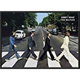 The BEATLES - Abbey Road 36x24 Dry Mounted Poster Wood Framed