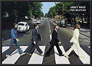 The BEATLES - Abbey Road 36x24 Wood Framed Poster Art Print