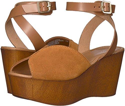 Seychelles Womens Laugh More Platform Sandal, Cognac Suede, Size 8