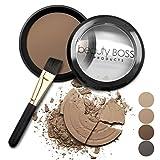 Image of Beauty Boss Products Eyebrow Powder Makeup Kit (Medium Brown)