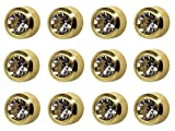 12 Pairs Studex April/Crystal Mini 2mm Gold Plated Bezel Setting Ear Piercing Stud Earrings Birthstone