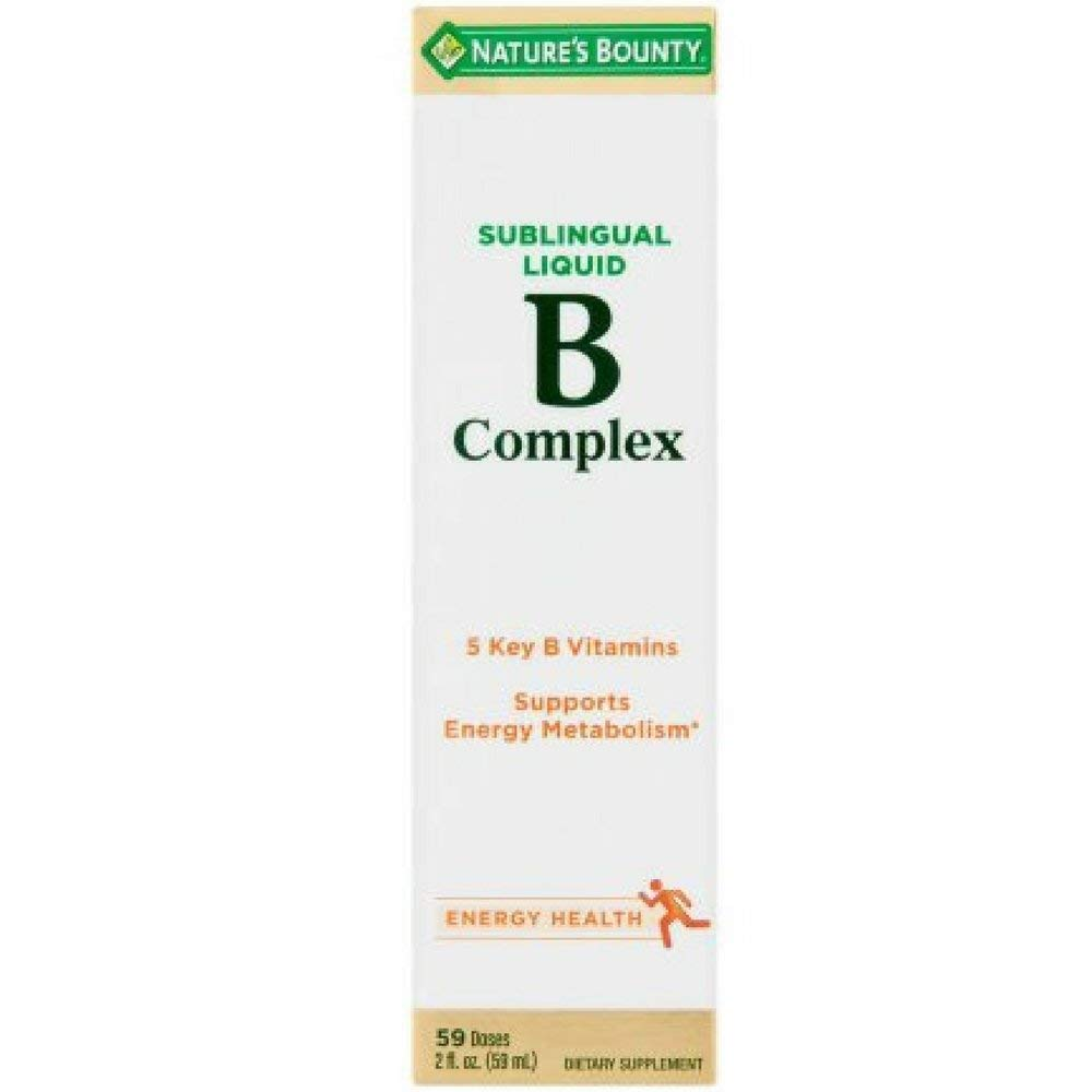 Nature s Bounty Vitamin B Complex Sublingual Liquid 2 oz Pack of 11